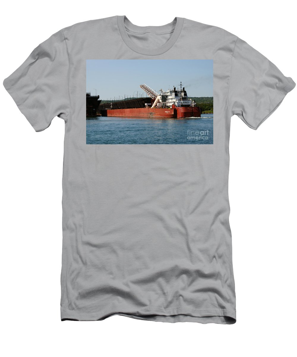 Ship Men's T-Shirt (Athletic Fit) featuring the photograph Presque Isle Ship by Lori Tordsen