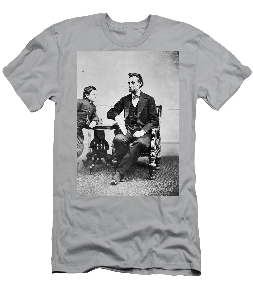 1865 Men's T-Shirt (Athletic Fit) featuring the photograph Abraham Lincoln by Granger