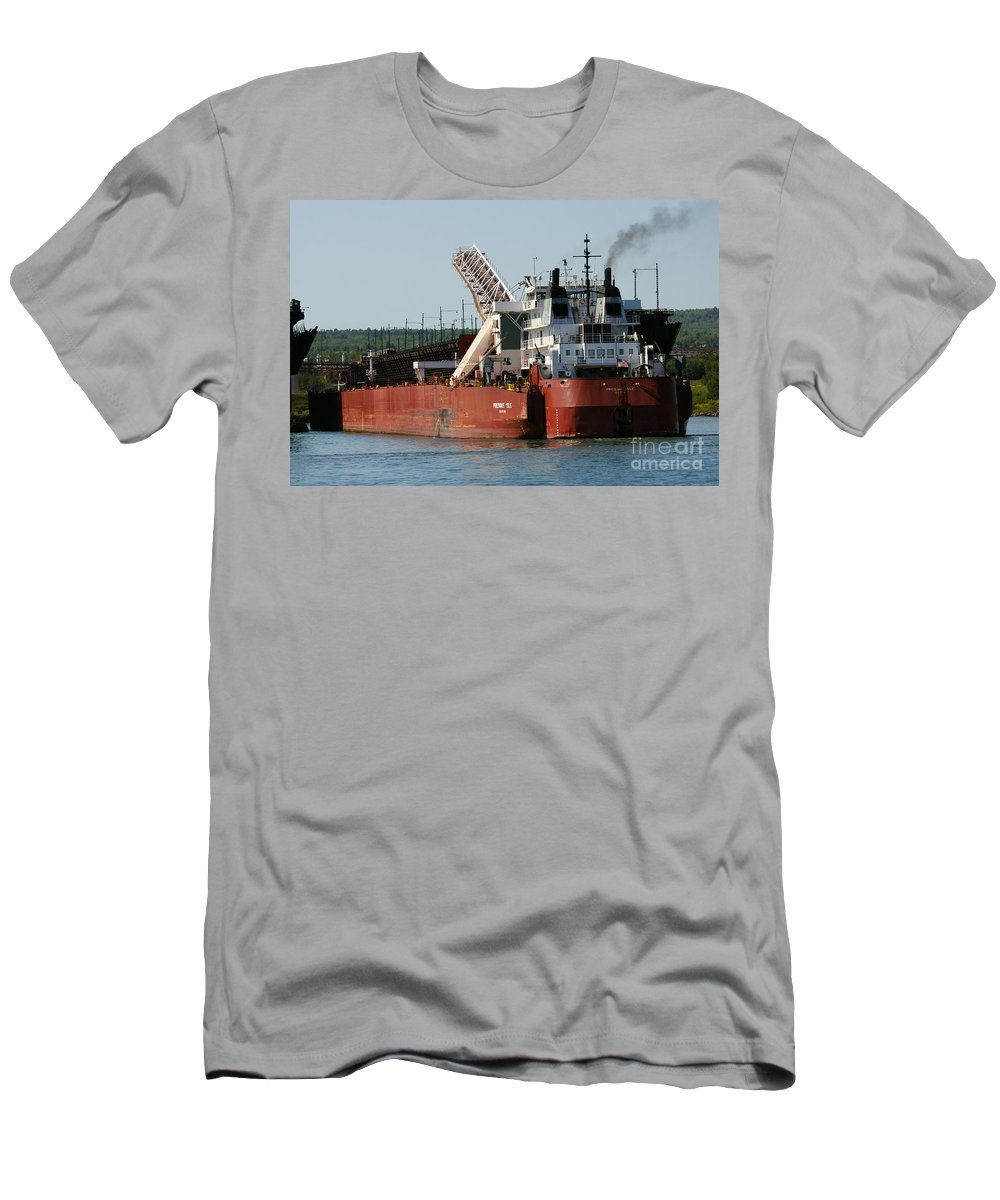 Duluth Men's T-Shirt (Athletic Fit) featuring the photograph Presque Isle Ship by Lori Tordsen