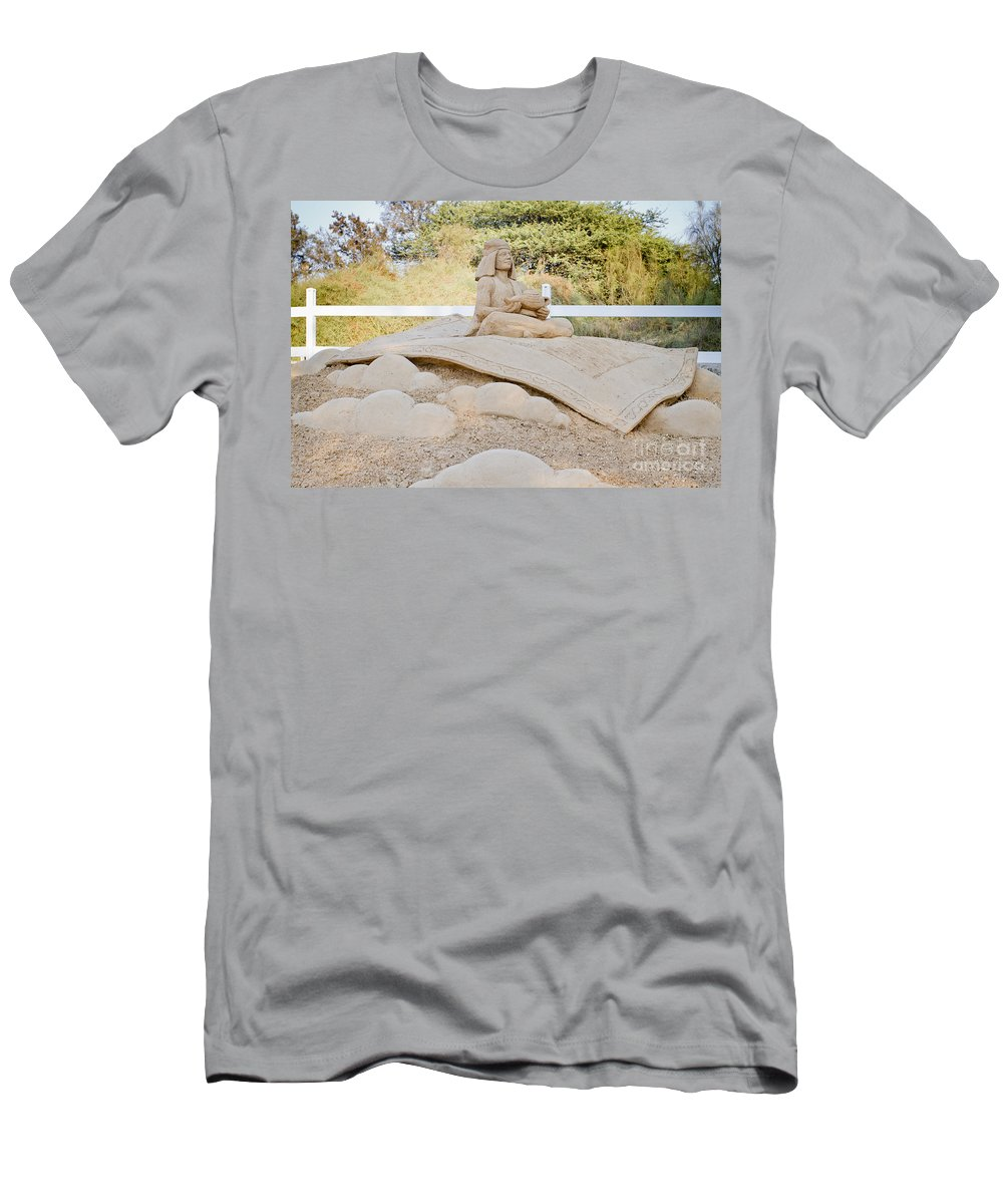 Aladdin Men's T-Shirt (Athletic Fit) featuring the photograph Fairytale Sand Sculpture by Sv