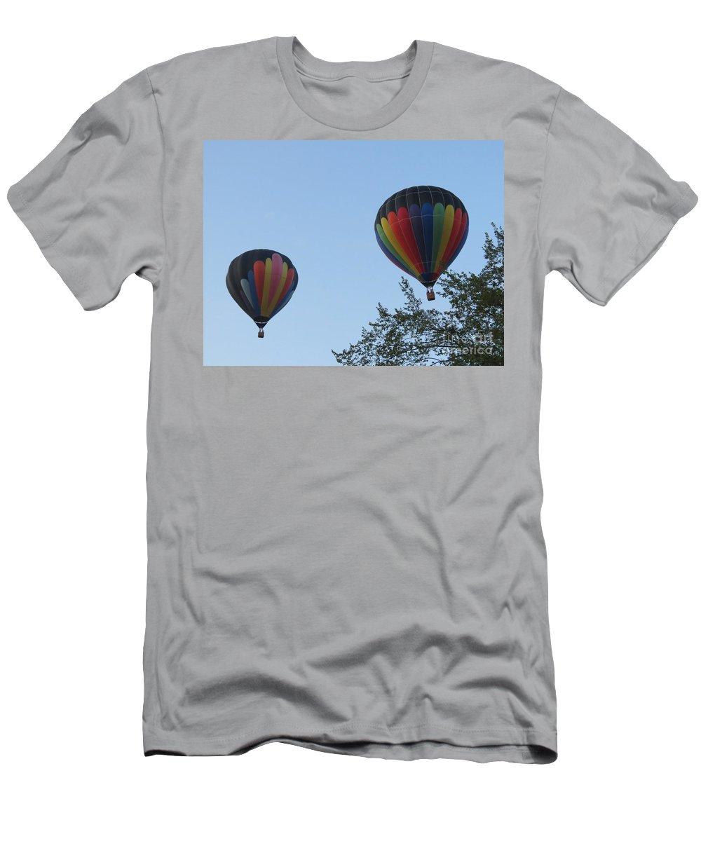 Oshkosh Men's T-Shirt (Athletic Fit) featuring the photograph A Colorful Couple. Oshkosh 2012. by Ausra Huntington nee Paulauskaite