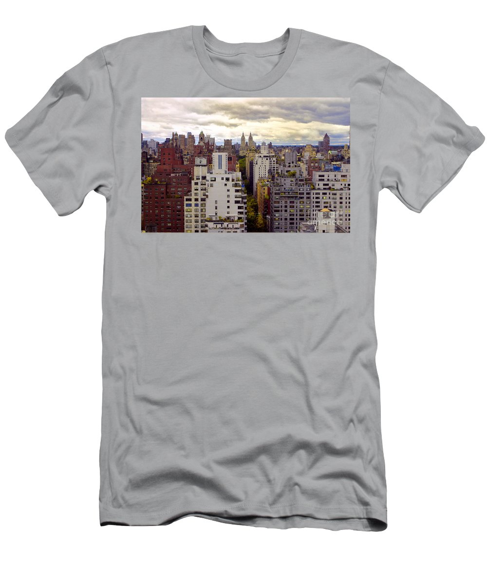 Manhattan Men's T-Shirt (Athletic Fit) featuring the photograph A Manhattan View by Madeline Ellis