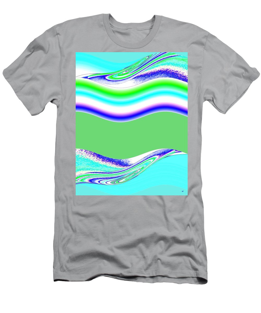 Abstract Fusion Men's T-Shirt (Athletic Fit) featuring the digital art Abstract Fusion 146 by Will Borden