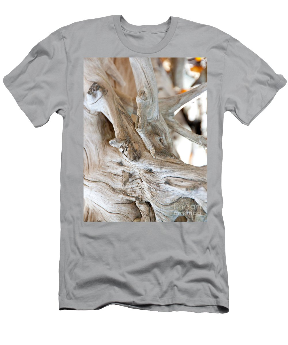 Abstract Men's T-Shirt (Athletic Fit) featuring the photograph Abstract Wood by Dana Kern