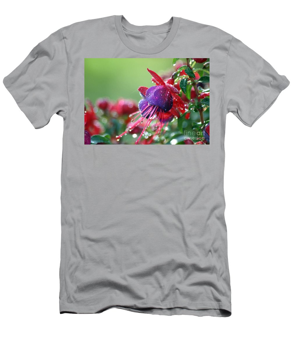 Floral Men's T-Shirt (Athletic Fit) featuring the photograph After The Rain by Living Color Photography Lorraine Lynch