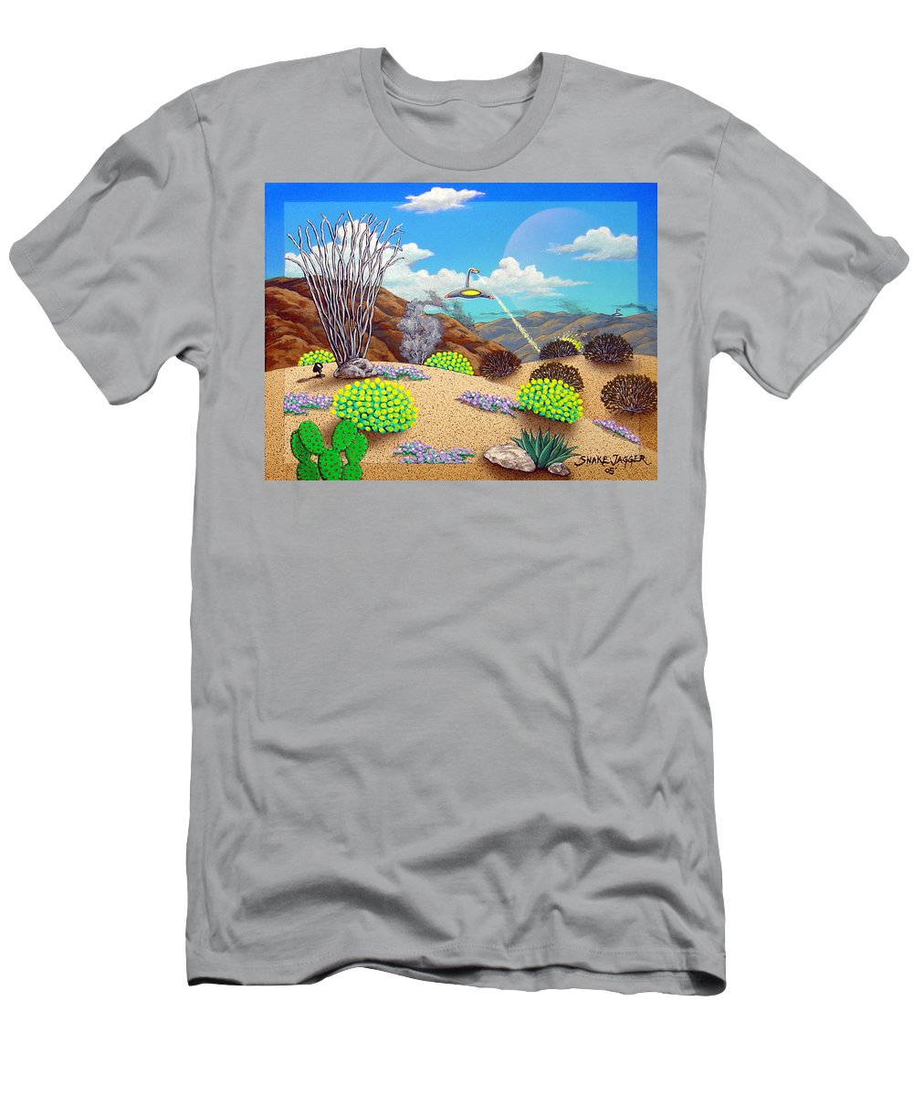 Desert T-Shirt featuring the painting Afternoon Attack by Snake Jagger