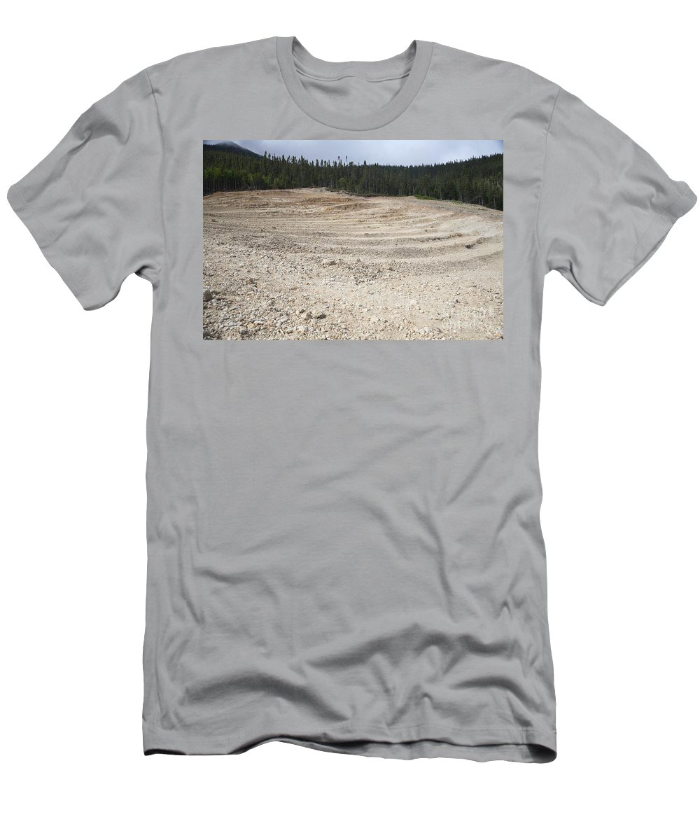 Geology Men's T-Shirt (Athletic Fit) featuring the photograph Agate Mine by Ted Kinsman