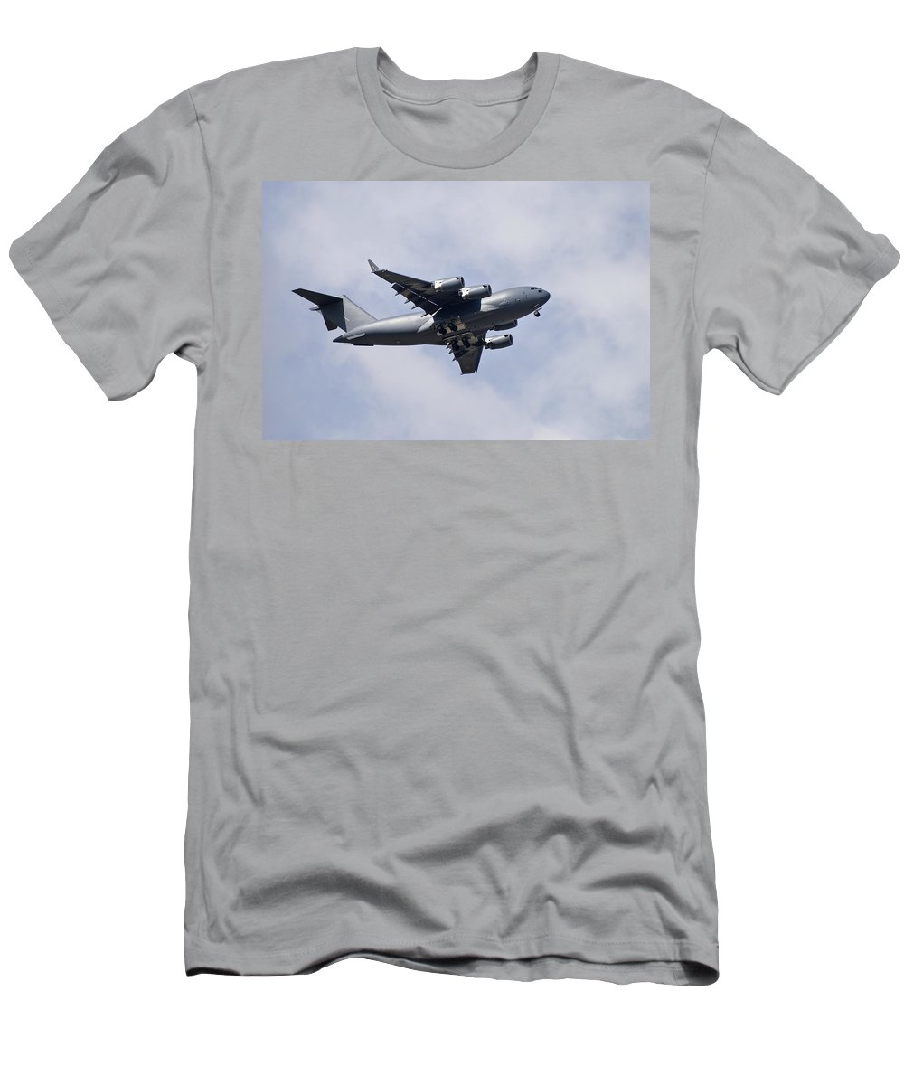 Aviation Men's T-Shirt (Athletic Fit) featuring the photograph Airplane In The Sky by Philippe Widling