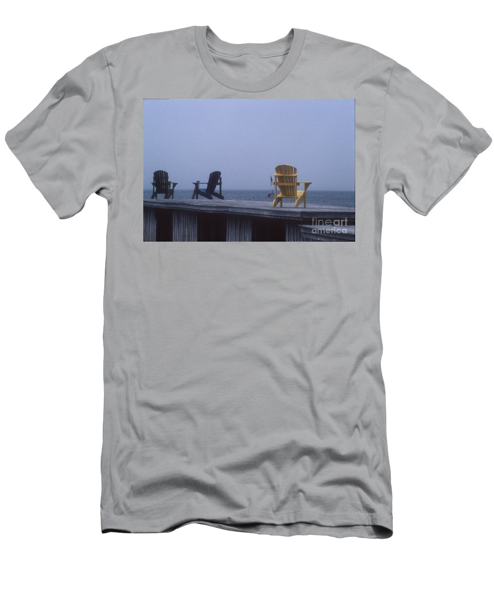 Yellow Men's T-Shirt (Athletic Fit) featuring the photograph Alone At Last by Darleen Stry
