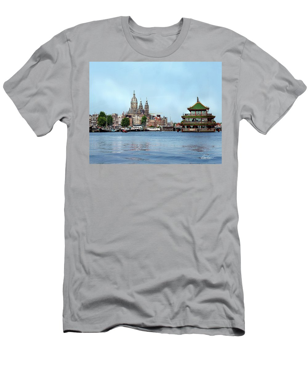 Amsterdam Men's T-Shirt (Athletic Fit) featuring the photograph Amsterdam by Diana Haronis