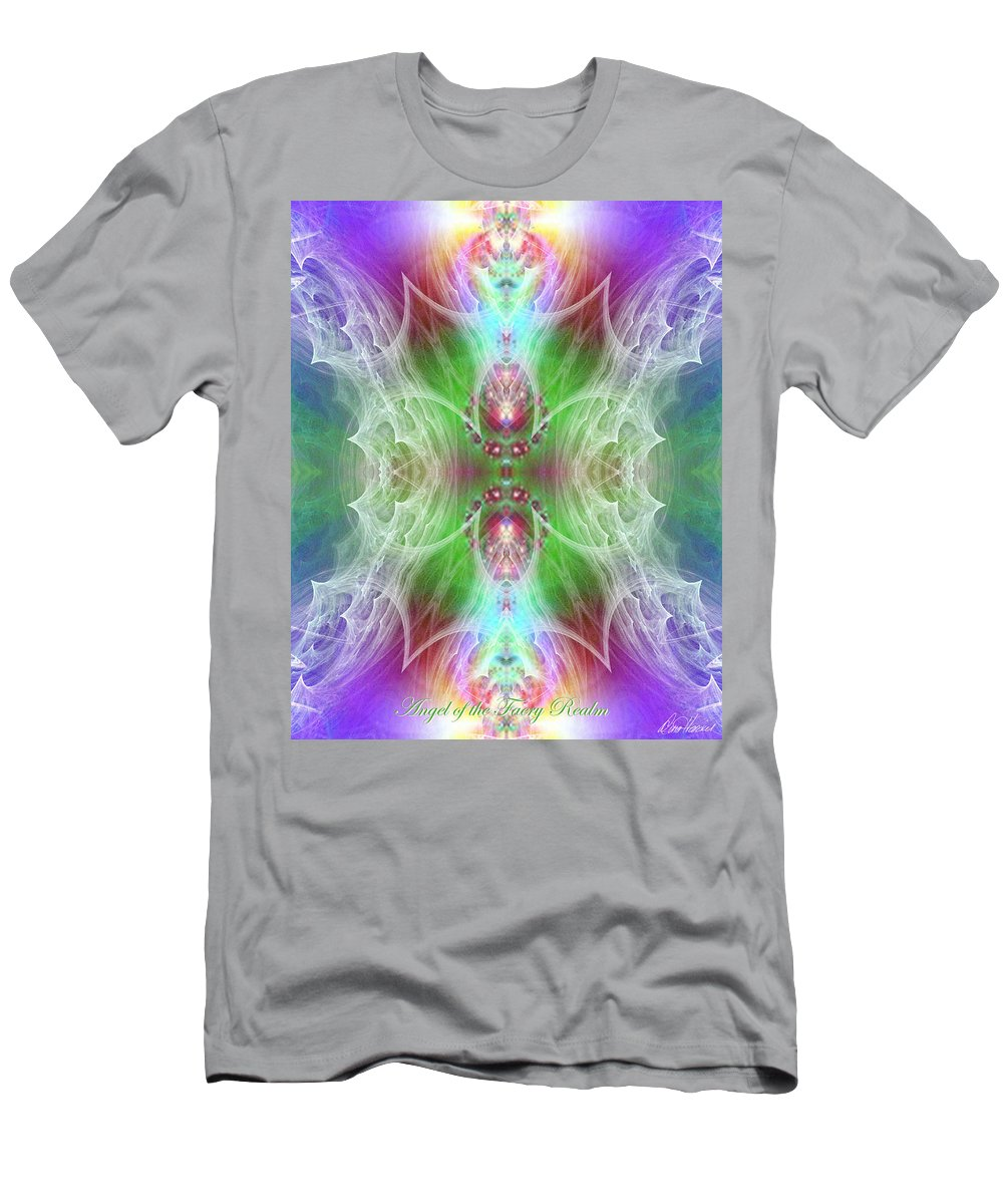 Angel Men's T-Shirt (Athletic Fit) featuring the digital art Angel Of The Faery Realm by Diana Haronis