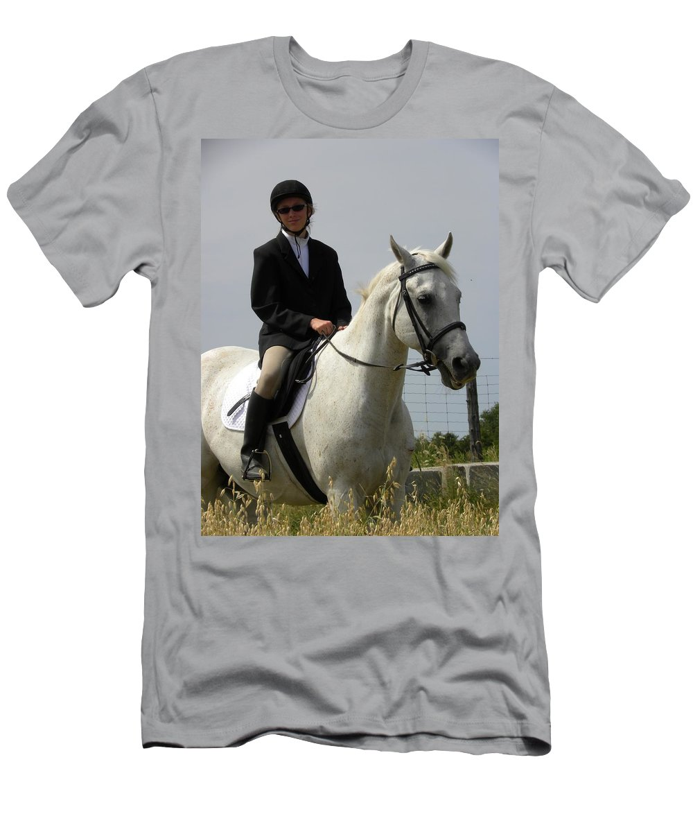 Horse Men's T-Shirt (Athletic Fit) featuring the photograph Another Beau by Peggy McDonald