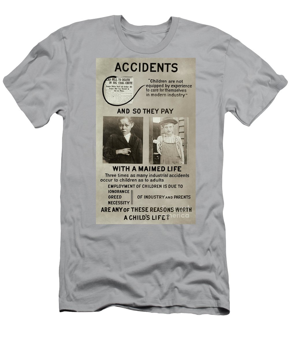1913 Men's T-Shirt (Athletic Fit) featuring the photograph Anti-child Labor Poster by Granger
