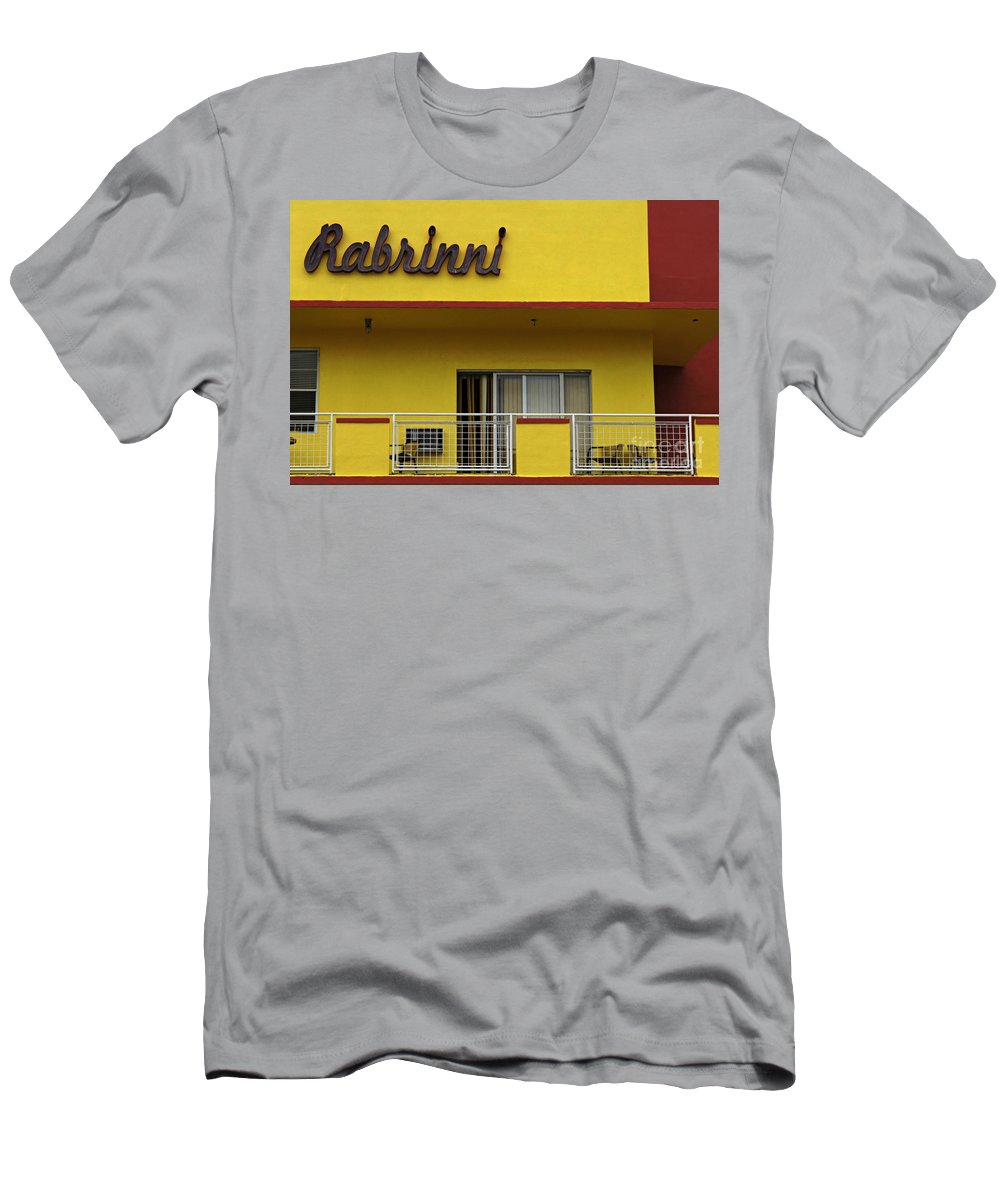 Rabrinni Hotel Men's T-Shirt (Athletic Fit) featuring the photograph Art Deco Miami 7 by Bob Christopher
