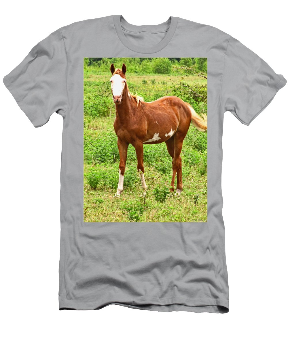Men's T-Shirt (Athletic Fit) featuring the photograph Bald Face by Debbie Portwood