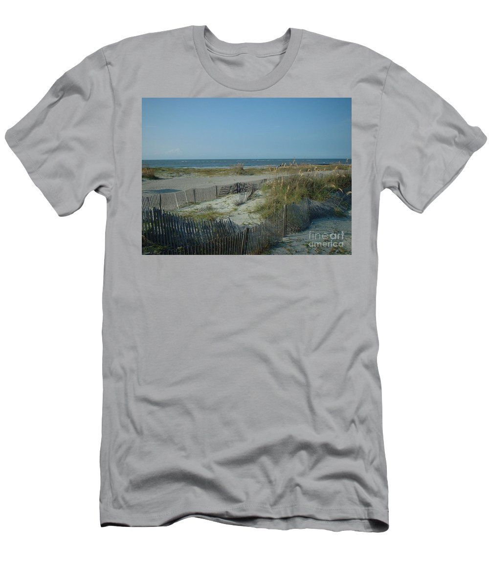 Beach T-Shirt featuring the photograph Barely Fenced by Mark Robbins