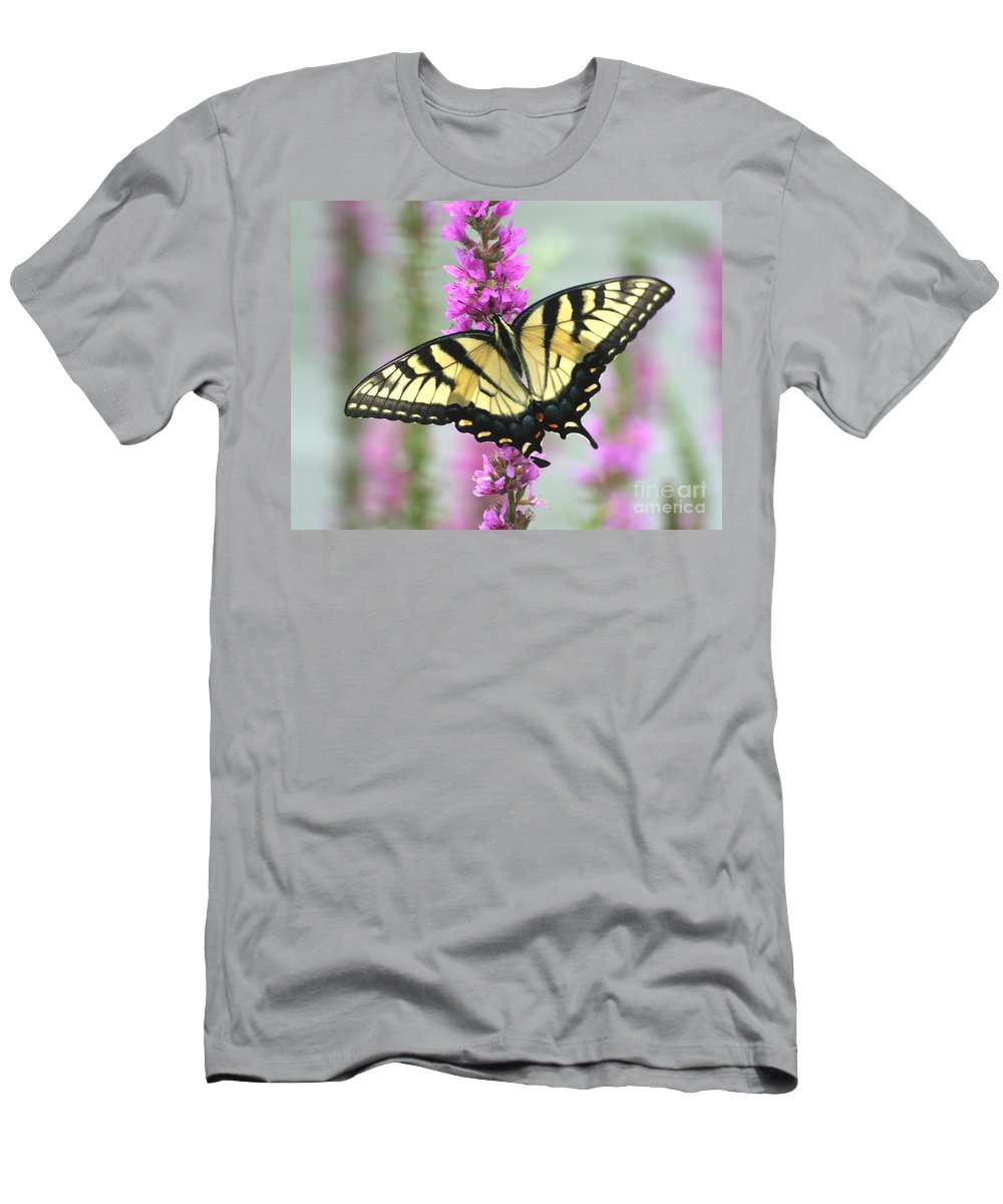 Butterfly Men's T-Shirt (Athletic Fit) featuring the photograph Beautiful Swallowtail by Living Color Photography Lorraine Lynch