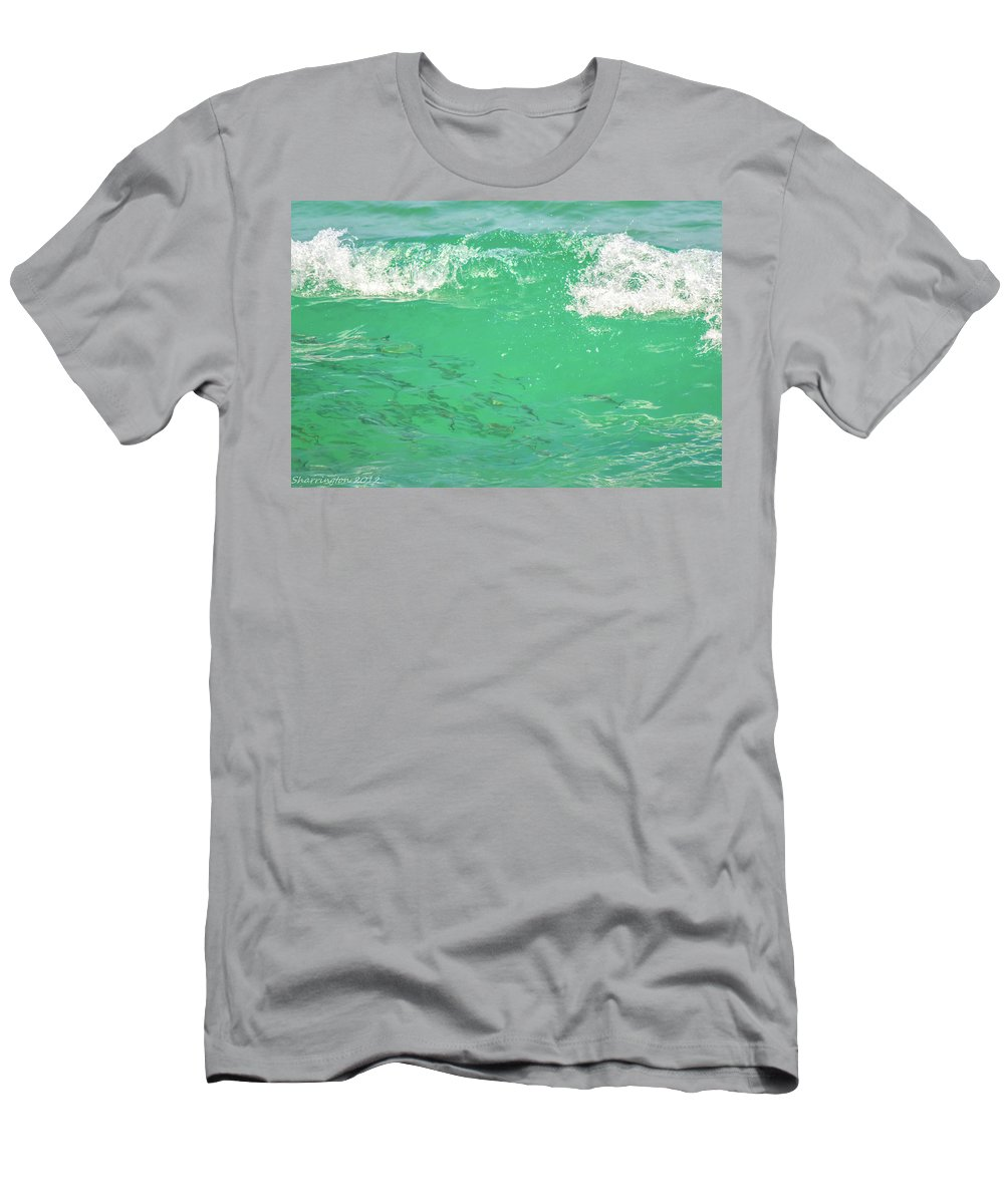 Fish Men's T-Shirt (Athletic Fit) featuring the photograph Beneath The Waves by Shannon Harrington