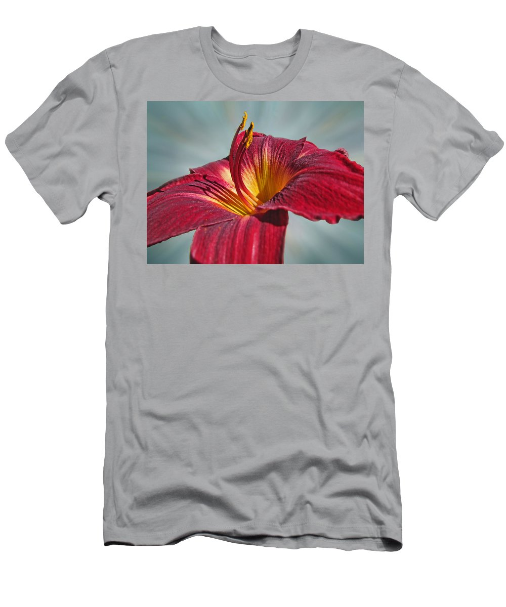 Plants Men's T-Shirt (Athletic Fit) featuring the photograph Big Red II by Debbie Portwood