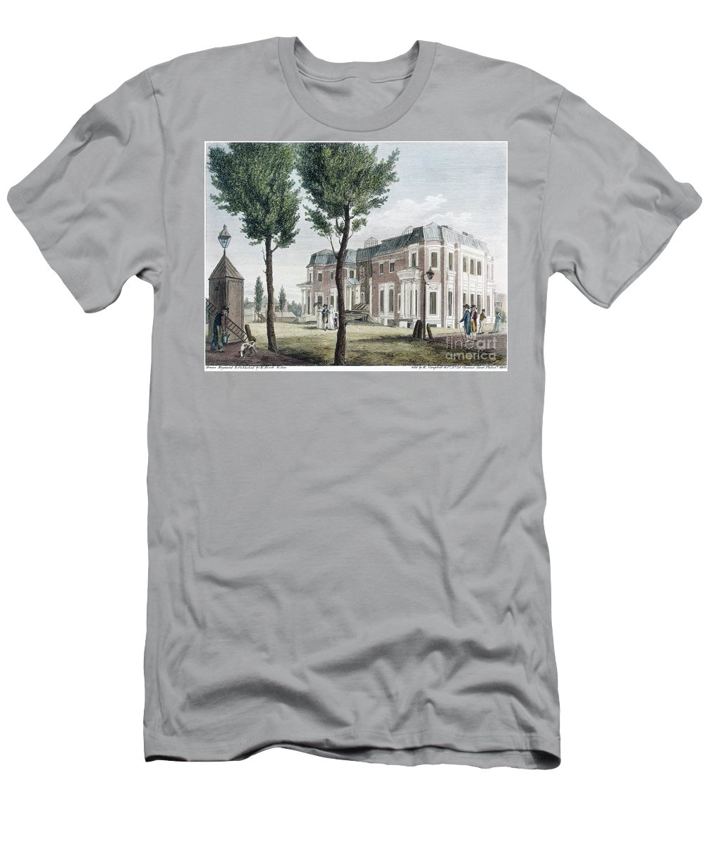 1800 Men's T-Shirt (Athletic Fit) featuring the photograph Birch: Philadelphia, 1800 by Granger
