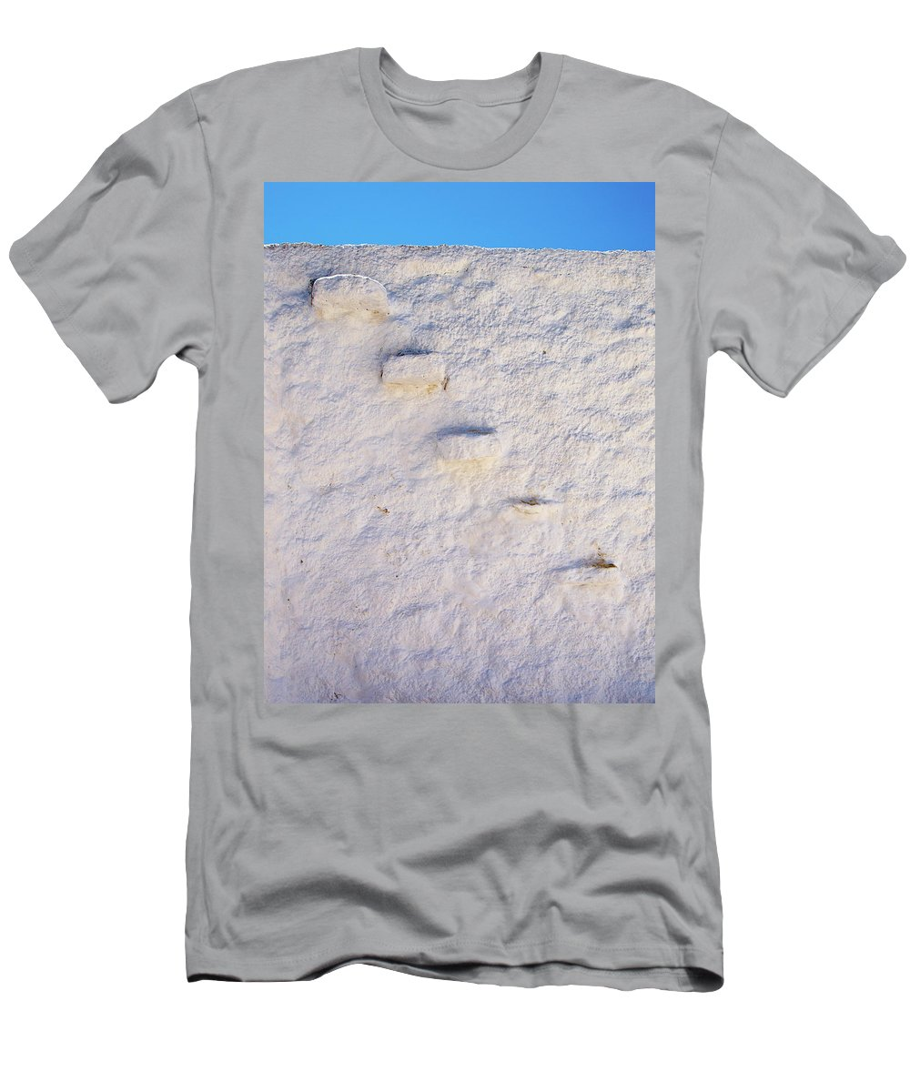 Jouko Lehto Men's T-Shirt (Athletic Fit) featuring the photograph Blue Line by Jouko Lehto