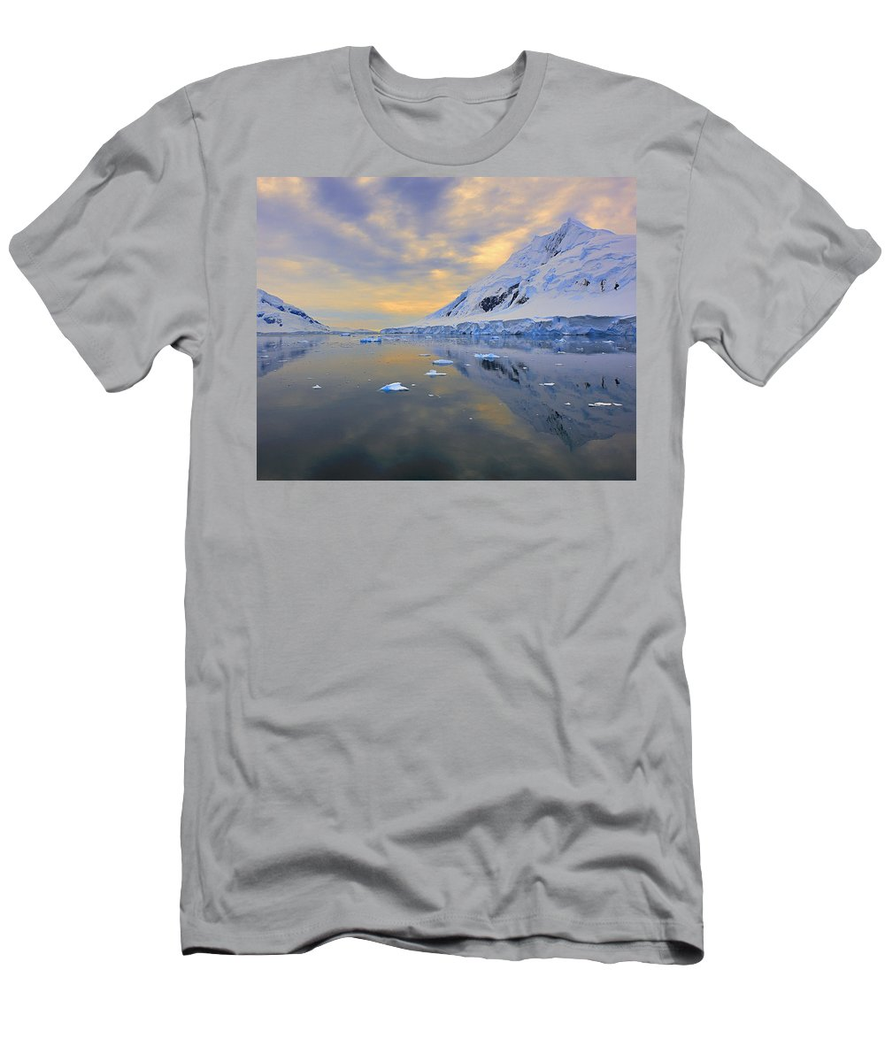 Antarctica Men's T-Shirt (Athletic Fit) featuring the photograph Blue Passage by Tony Beck
