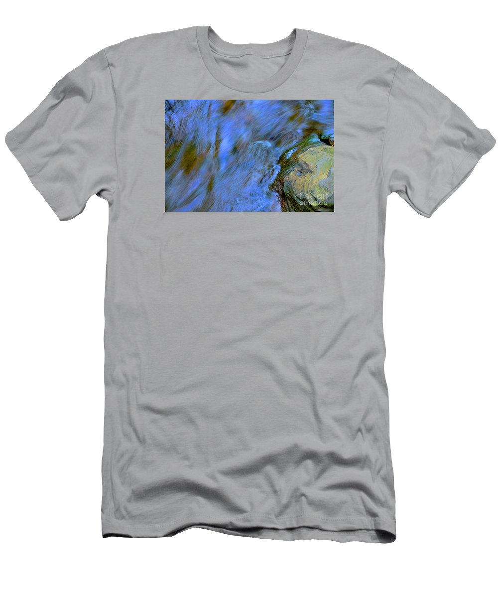 #letchworth #state #park Men's T-Shirt (Athletic Fit) featuring the photograph Blue Waters by Kathleen Struckle