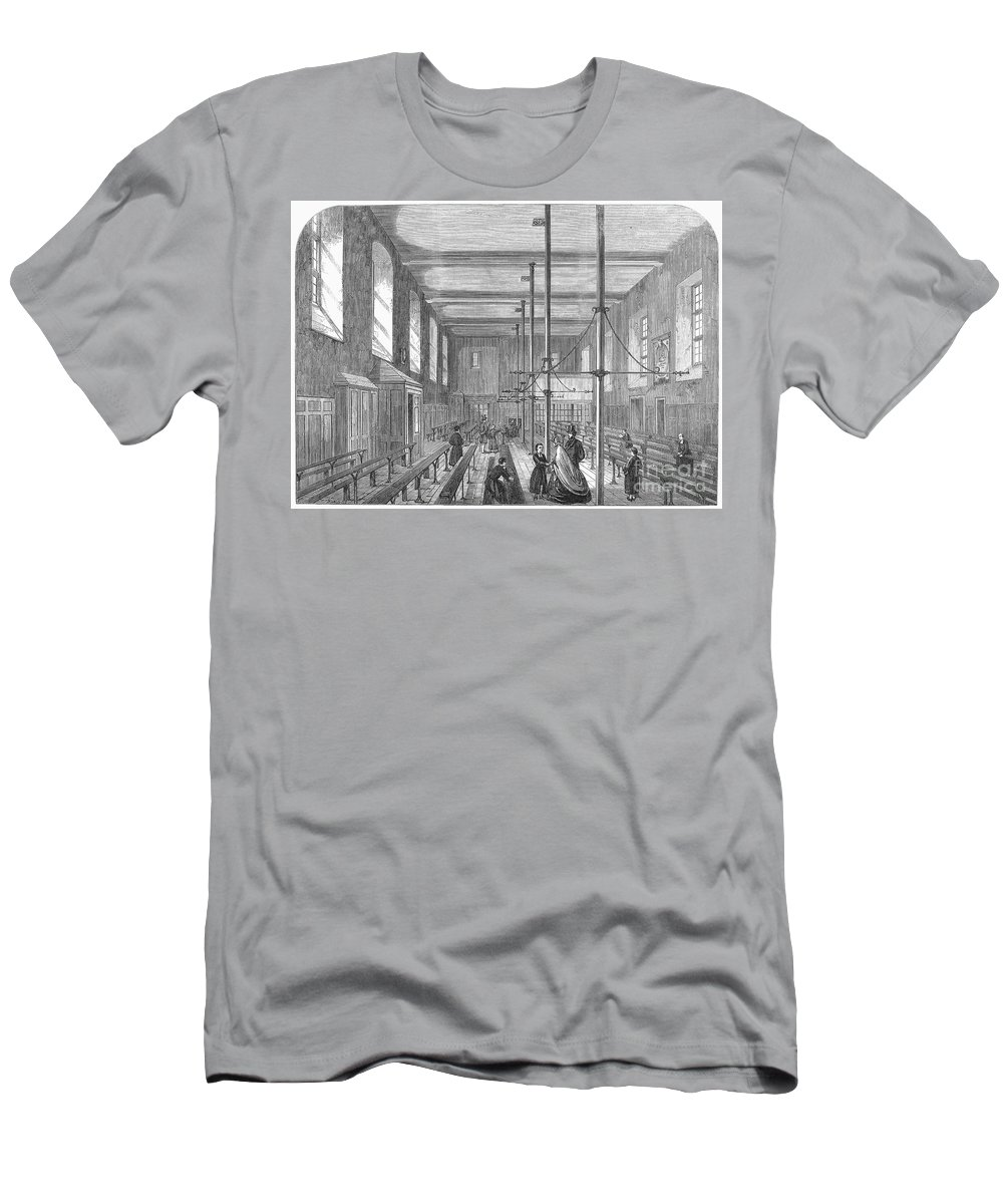 1862 Men's T-Shirt (Athletic Fit) featuring the photograph Boarding School, 1862 by Granger