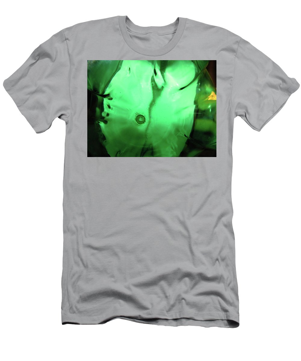 Abstract Men's T-Shirt (Athletic Fit) featuring the photograph Bottle Bottom by Denise Keegan Frawley