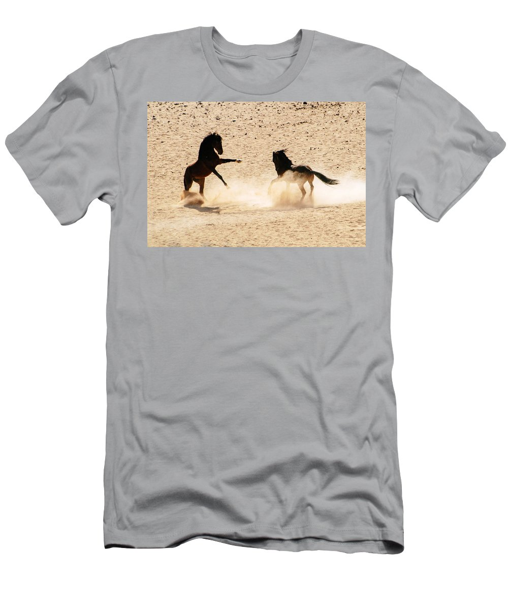 Action Men's T-Shirt (Athletic Fit) featuring the photograph Boxing by Alistair Lyne