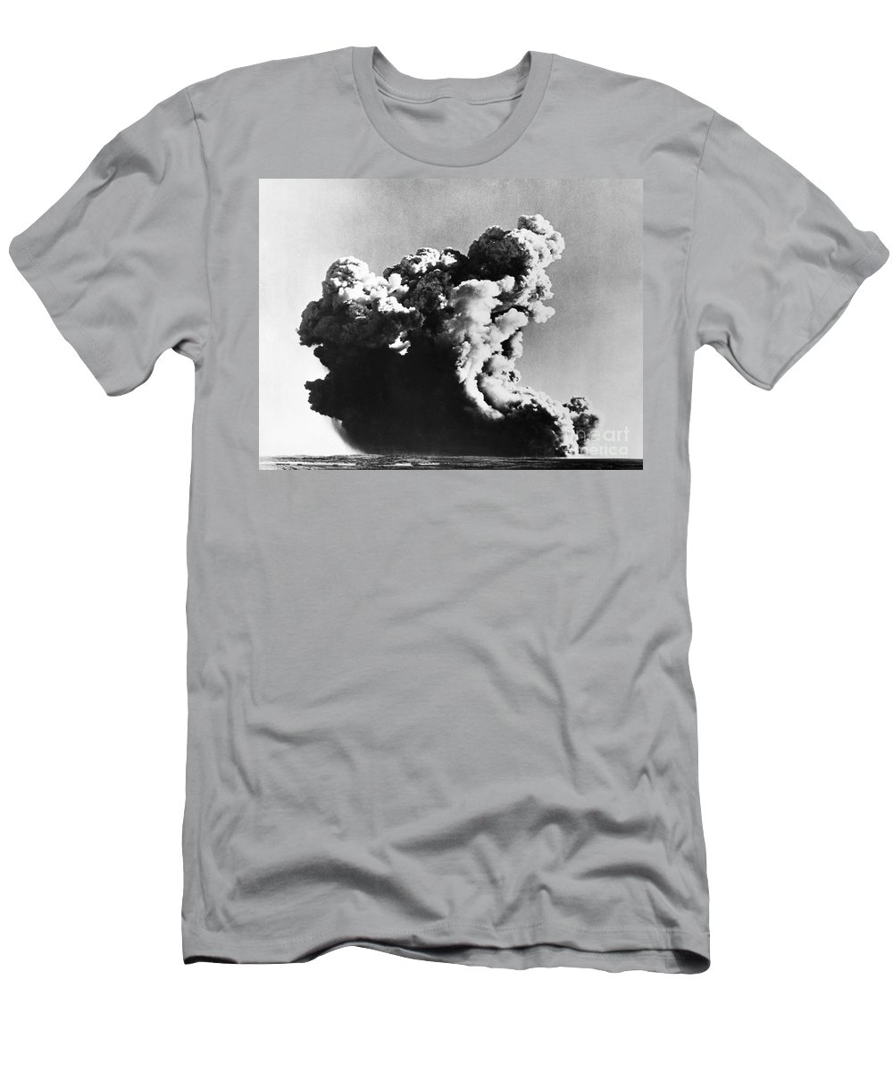 1952 Men's T-Shirt (Athletic Fit) featuring the photograph British Nuclear Test, 1952 by Granger