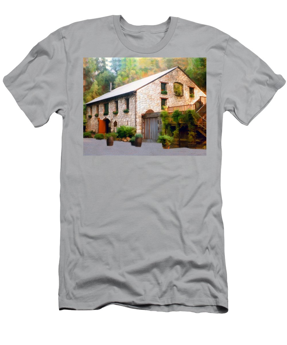 Winery Men's T-Shirt (Athletic Fit) featuring the photograph Buenavista Winery by Kurt Van Wagner