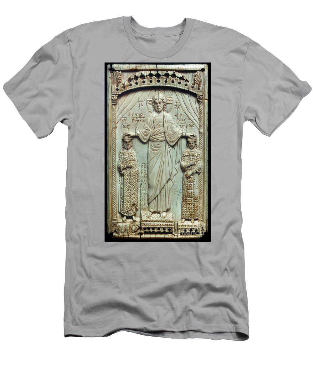 10th Century Men's T-Shirt (Athletic Fit) featuring the photograph Byzantine Art by Granger