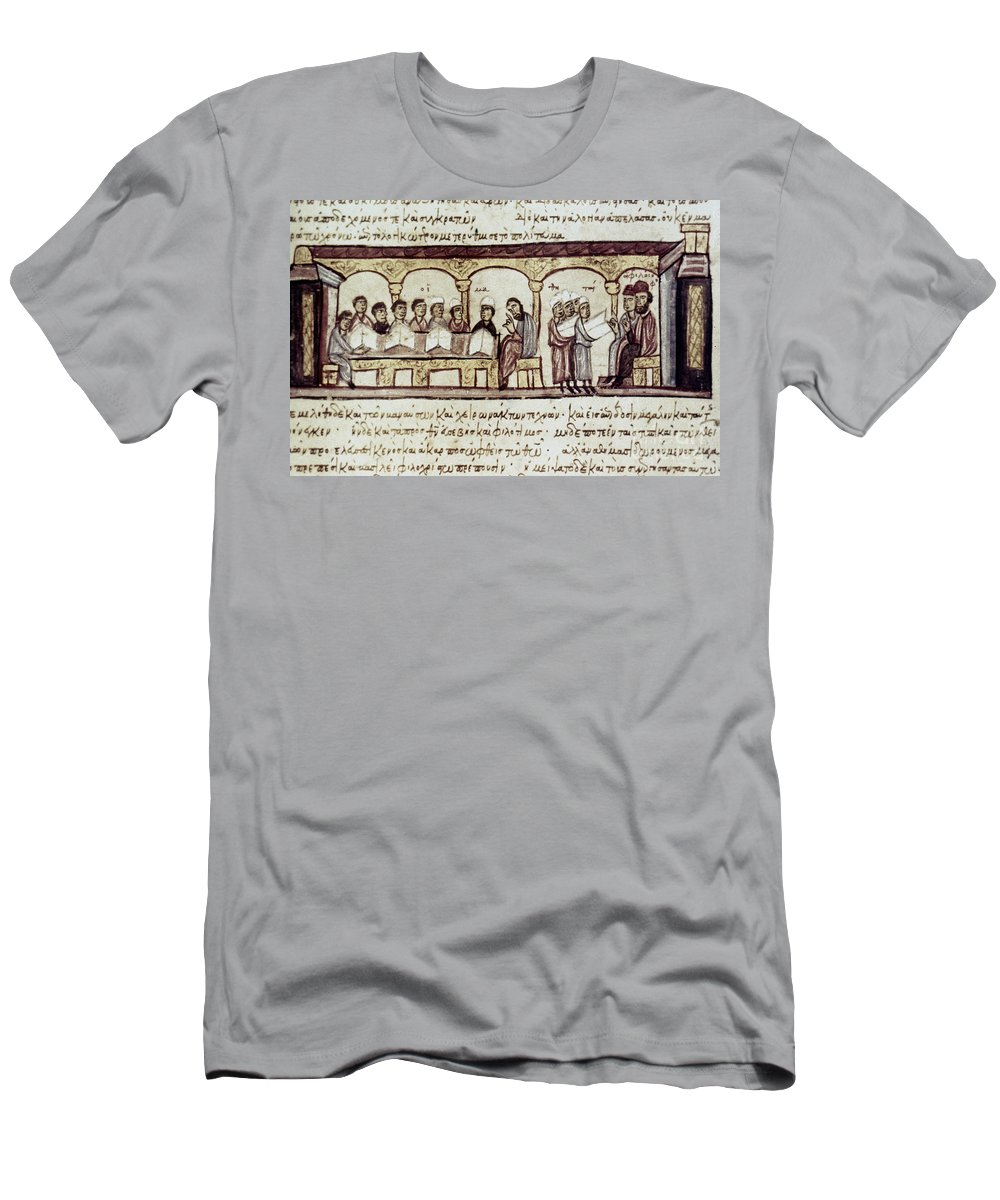 13th Century Men's T-Shirt (Athletic Fit) featuring the photograph Byzantine Philosophy School by Granger