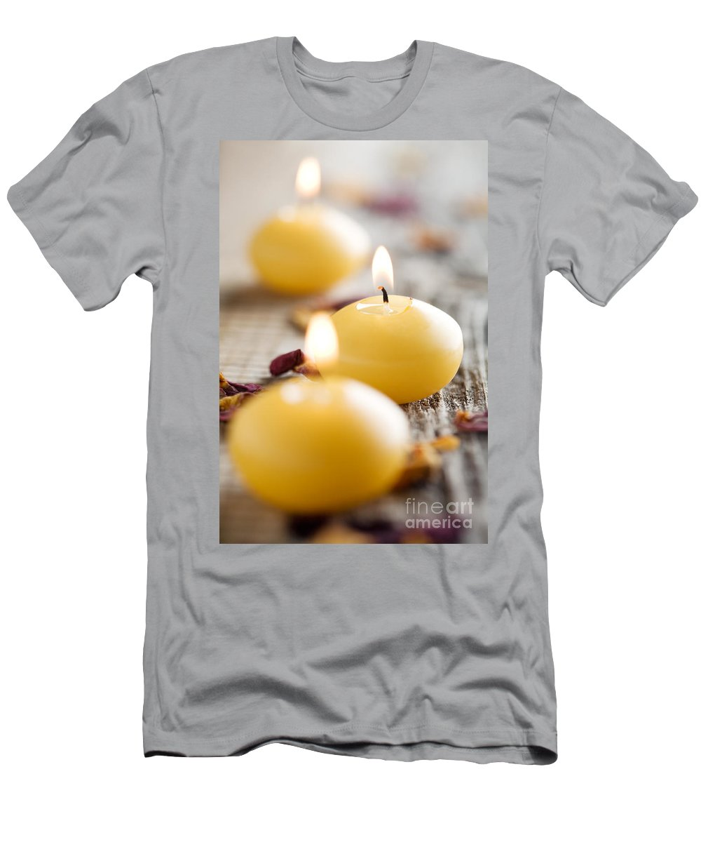 Alternative Men's T-Shirt (Athletic Fit) featuring the photograph Candles by Kati Finell