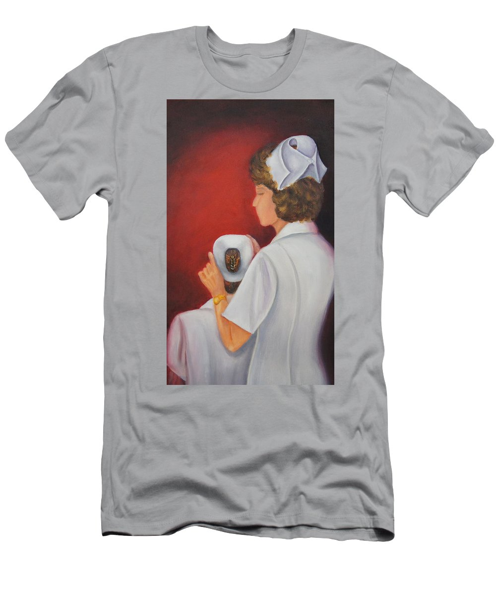 Nursing Men's T-Shirt (Athletic Fit) featuring the painting Capping A Tradition Of Nursing by Marlyn Boyd