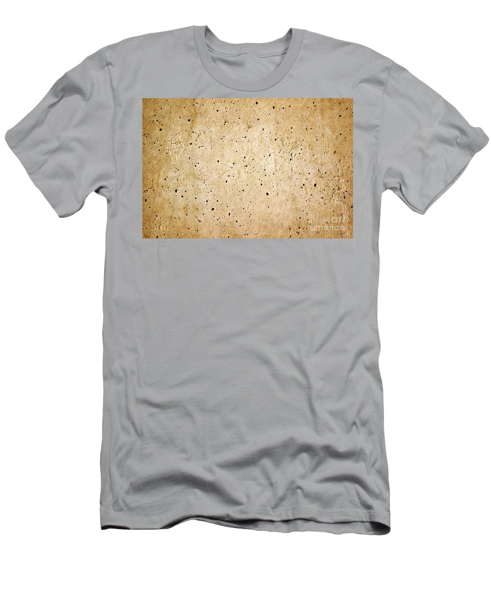 Abstract Men's T-Shirt (Athletic Fit) featuring the photograph Cement Wall by Carlos Caetano