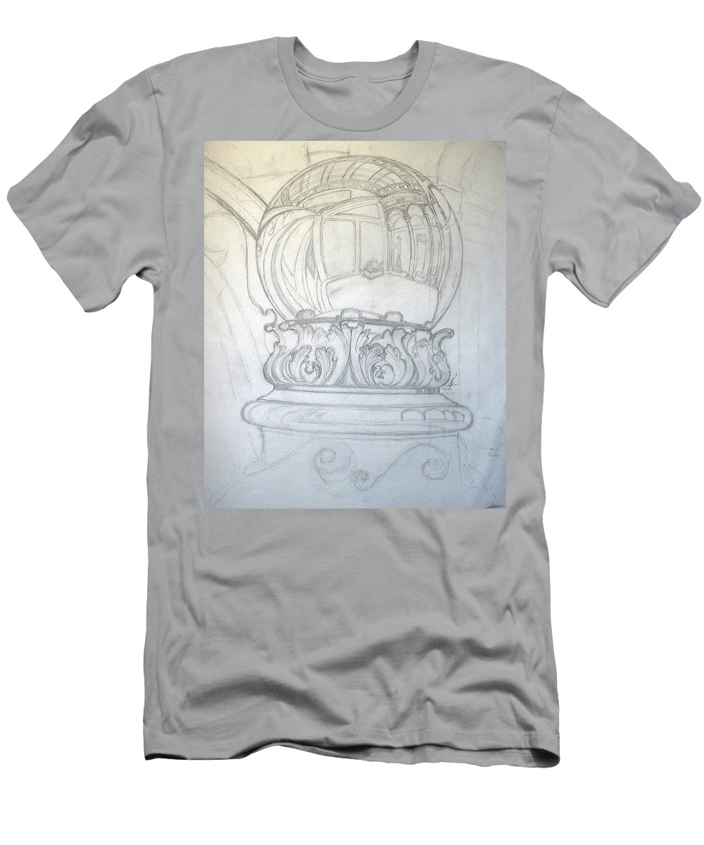 Ball T-Shirt featuring the drawing Chrome Ball at M.I.C.A. by Robert Fenwick May Jr