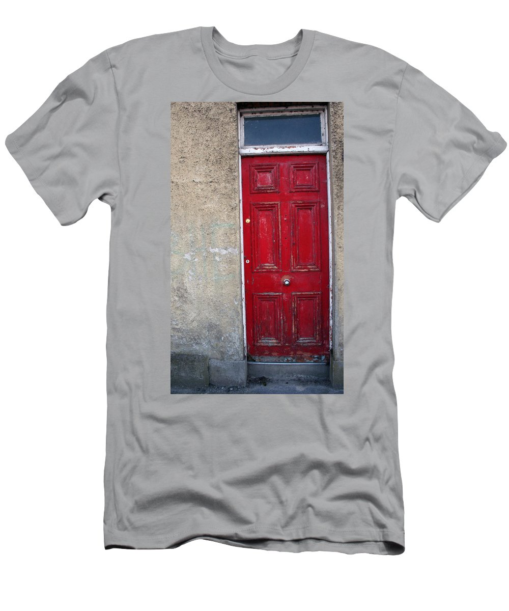 Door Men's T-Shirt (Athletic Fit) featuring the photograph City 0022 by Carol Ann Thomas