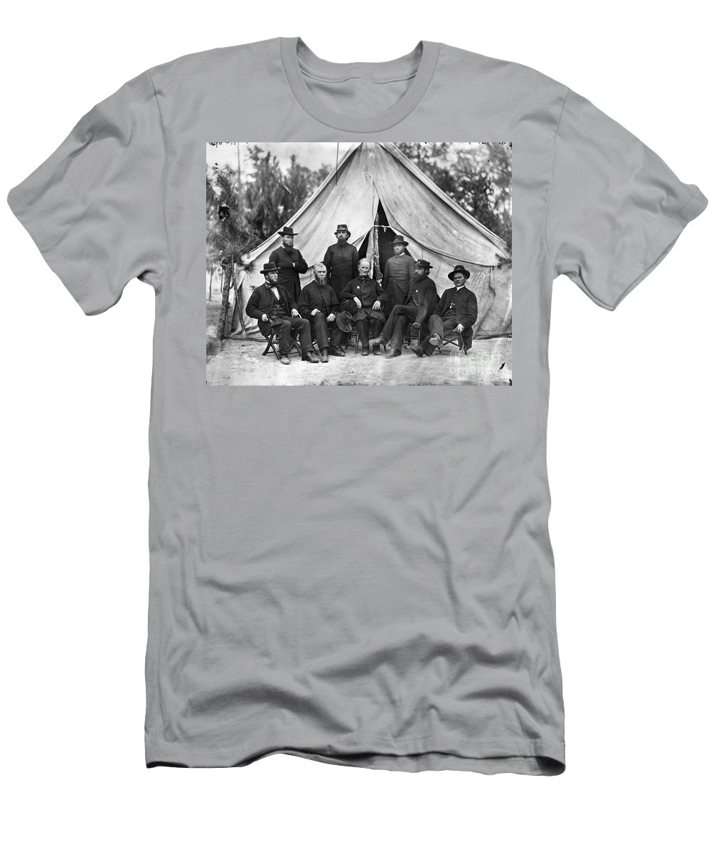 1864 Men's T-Shirt (Athletic Fit) featuring the photograph Civil War: Chaplains, 1864 by Granger