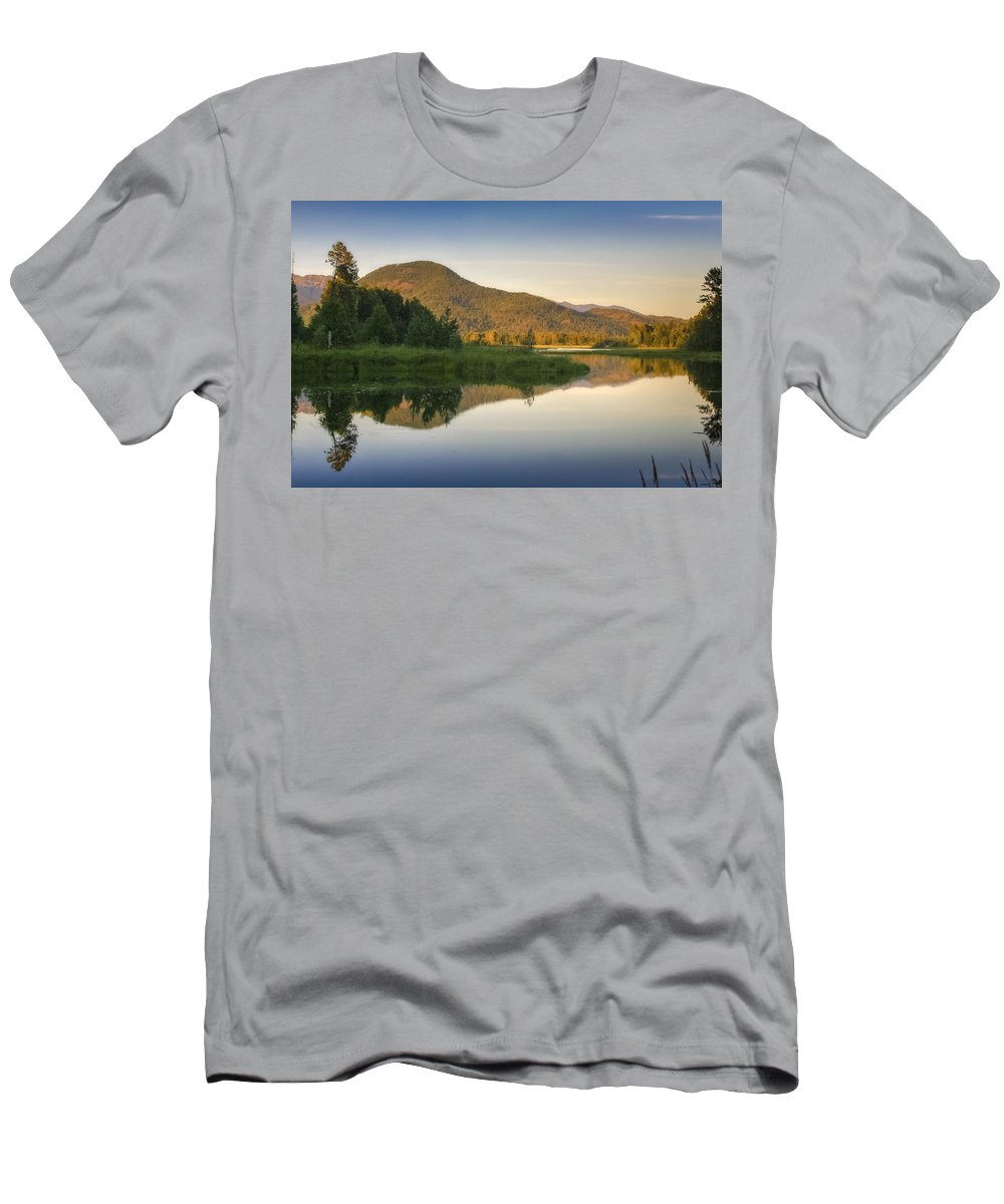 Clark Fork Men's T-Shirt (Athletic Fit) featuring the photograph Clark Fork Delta 3 by Albert Seger