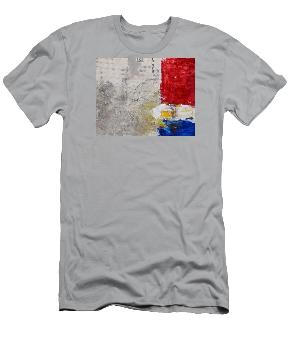 Abstract Painting Men's T-Shirt (Athletic Fit) featuring the painting Clear Cut by Cliff Spohn