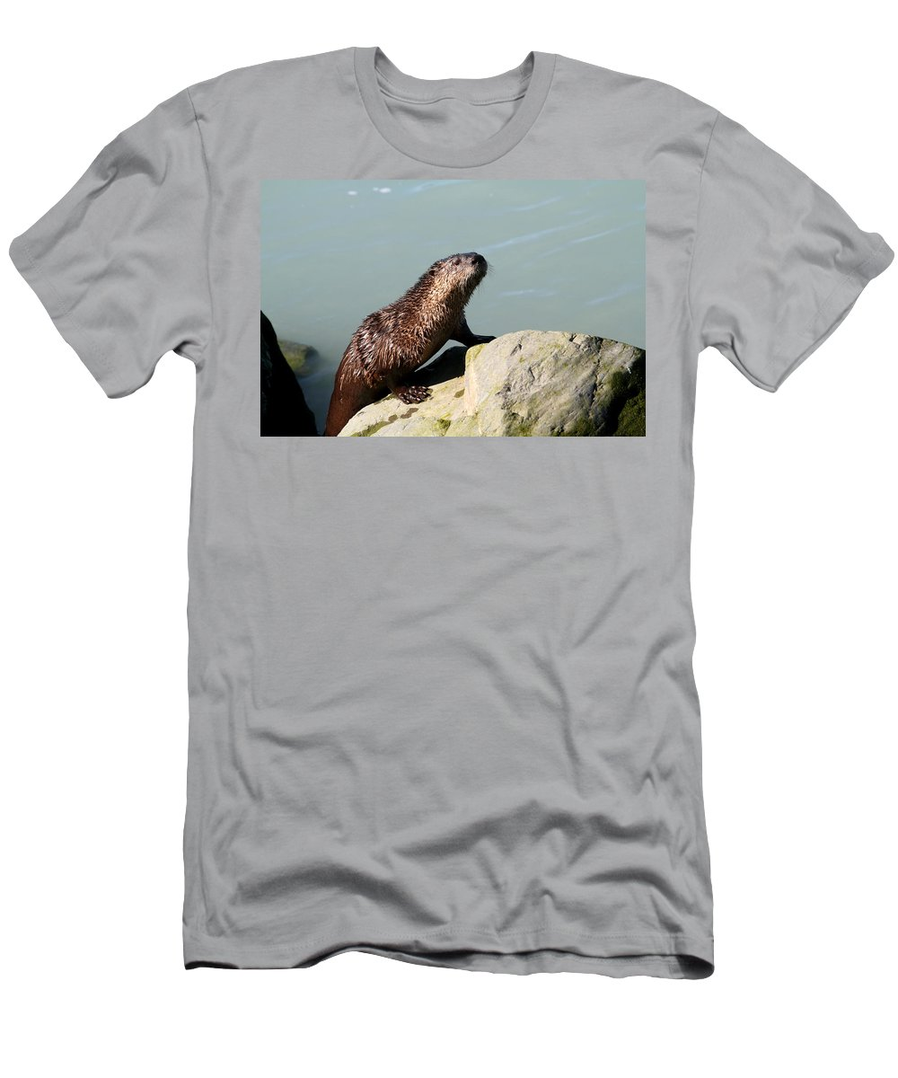 Doug Lloyd Men's T-Shirt (Athletic Fit) featuring the photograph Climbing Out by Doug Lloyd