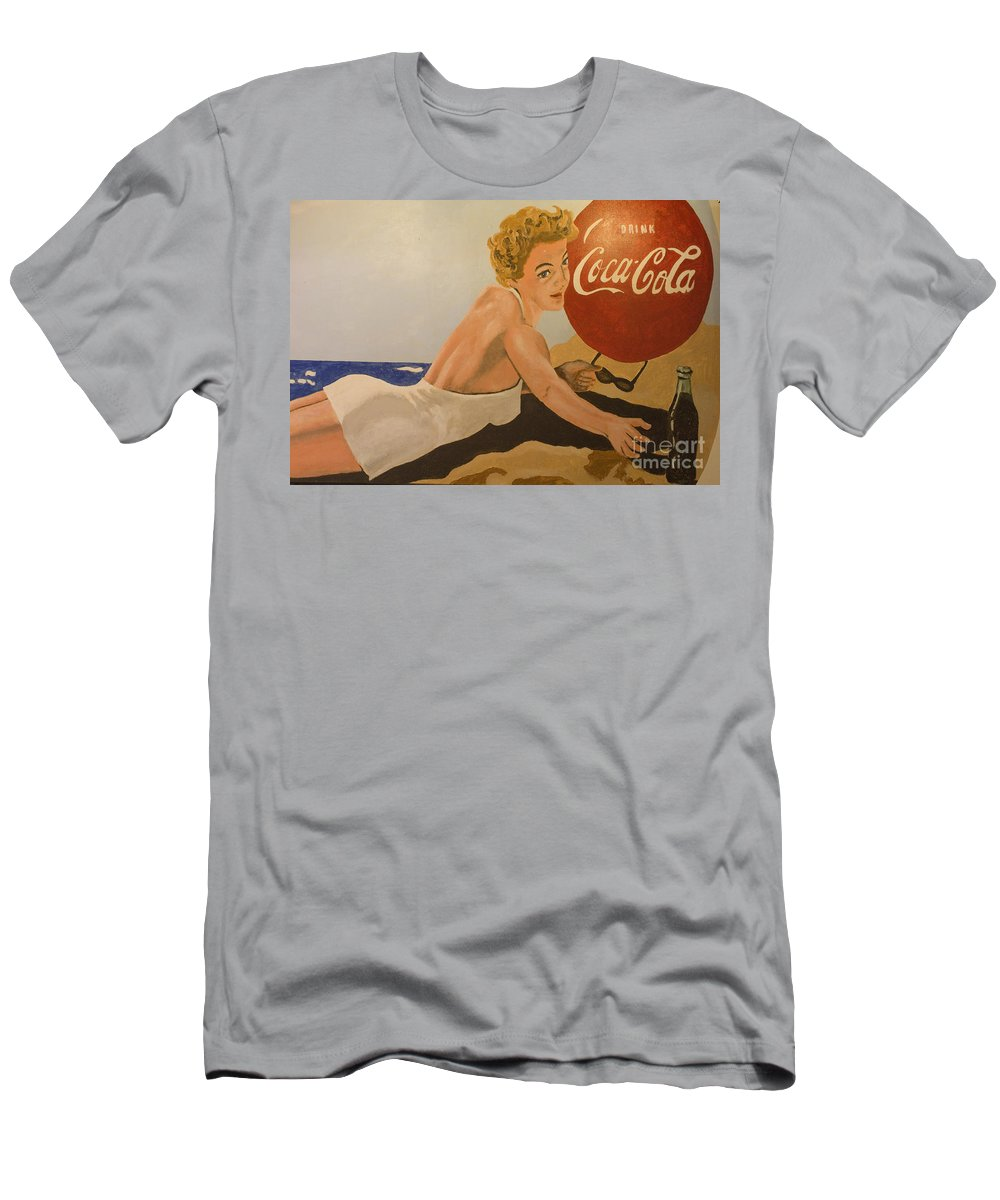 Coke Men's T-Shirt (Athletic Fit) featuring the photograph Coca Cola Vintage Sign by Bob Christopher