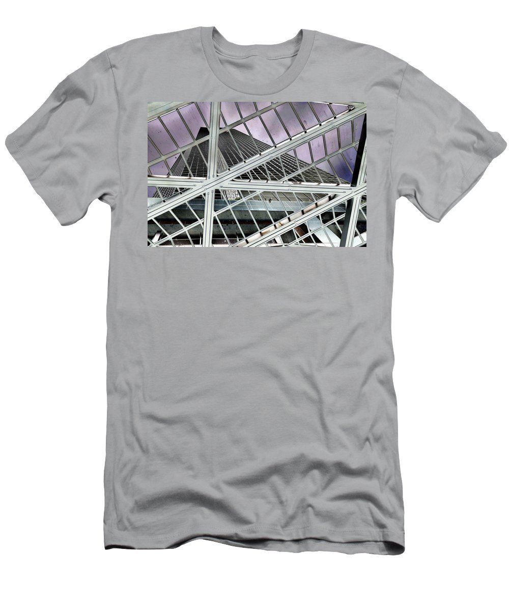 Seattle Men's T-Shirt (Athletic Fit) featuring the photograph Columbia Center by Rich Bodane