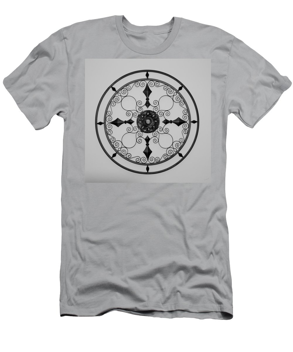 Black And White Men's T-Shirt (Athletic Fit) featuring the photograph Compass In Black And White by Rob Hans