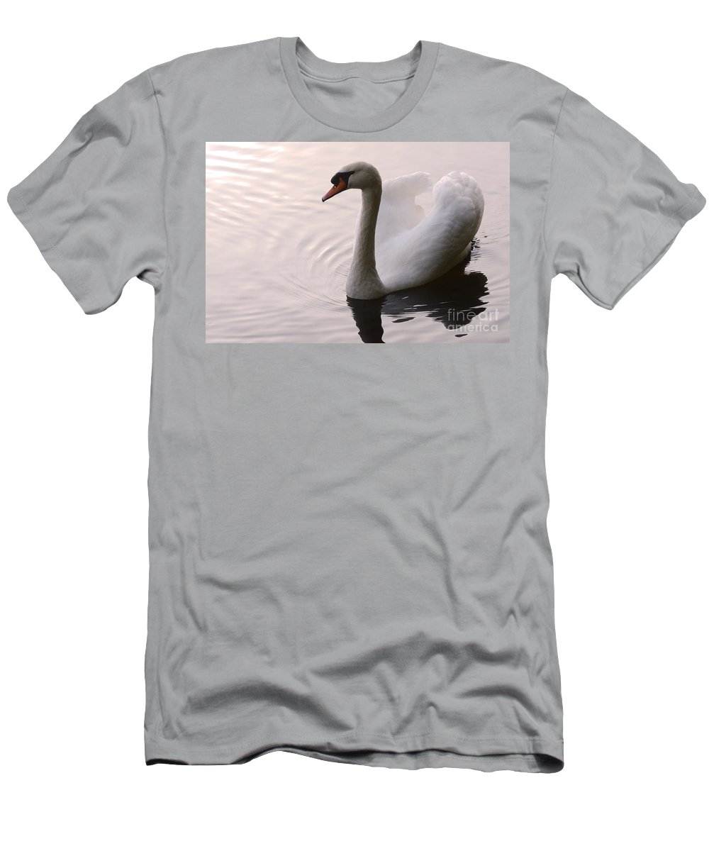 Swan Men's T-Shirt (Athletic Fit) featuring the photograph Completely Elegant by Bob Christopher