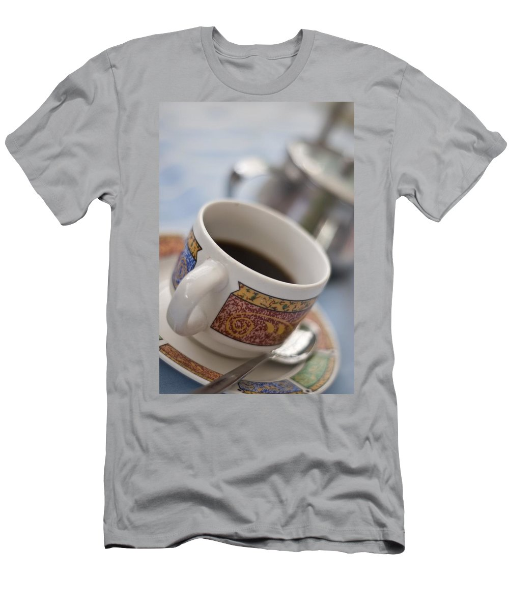 Beverage Men's T-Shirt (Athletic Fit) featuring the photograph Cup Of Coffee by David DuChemin