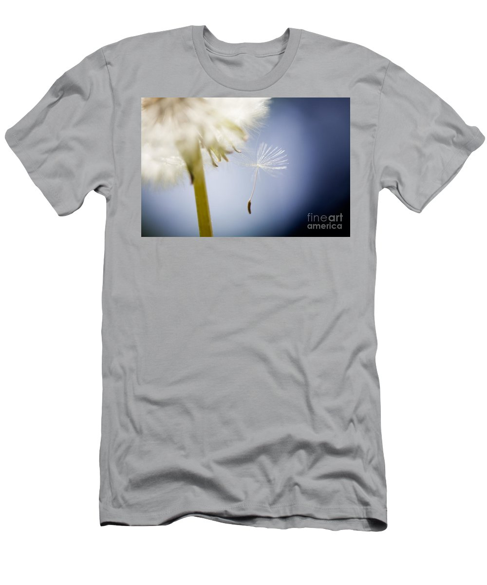 Abstract Men's T-Shirt (Athletic Fit) featuring the photograph Dandelion by Kati Finell