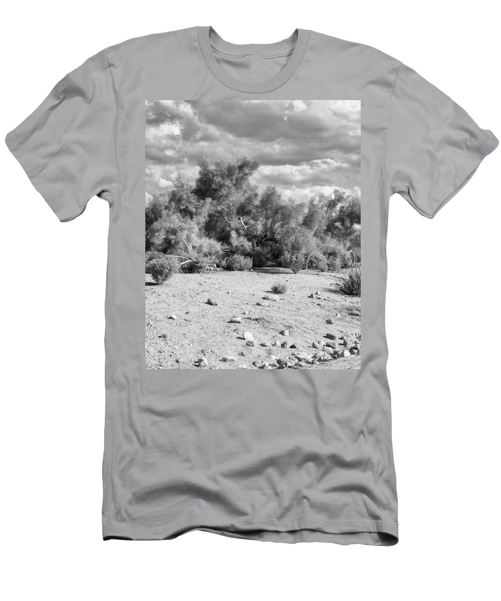 Desert Men's T-Shirt (Athletic Fit) featuring the photograph Desert Cloud Bw Palm Springs by William Dey
